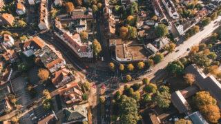 Sallier Bauträger Luftaufnahme Kreuzung in Lüneburg Investition Gewerbeimmobilie